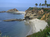 Secluded shore at Laguna Beach